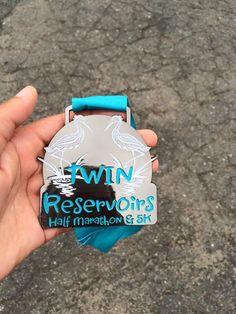 Twin Reservoirs Half Marathon bling #halfmarathon #running #50states #Run50…