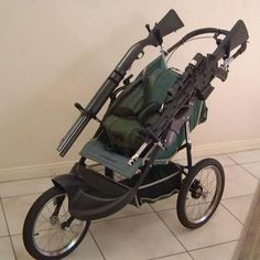 With all of the recent zombie activity, parents should consider the zombie stroller... Taylor, me and Grandpa are going to make one of these for you and Izzabell!