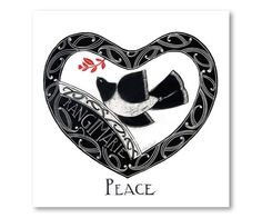 Peace - Rangimarie by Nelson artist Amber Smith. Art-prints available from… Nz Art, Art For Art Sake, Maori Patterns, Maori Designs, New Zealand Art, Maori Art, Kiwiana, Cross Stitch Heart, Contemporary Artwork