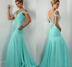 Exquisite Mermaid Evening Dresses 2016 Paolo Sebastian Dresses Party Evening Gowns Crystals Beaded Pleated Formal Prom Dress Chiffon Online with $118.94/Piece on Hjklp88's Store