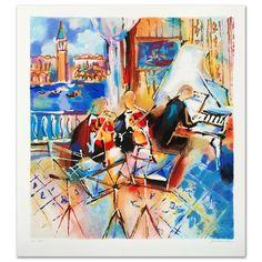 "Venetian Melody"" Limited Edition Serigraph by Michael Rozenvain   eBay"