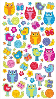 Sticko Classic Stickers Hoots TWEETS | eBay