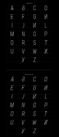 Oblivion Font Letters