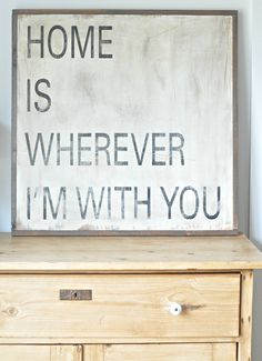 Home Is Wherever. $100.00, via Etsy.    I want to do this in my bedroom and add pictures of devin and me