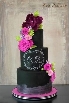 Tutorial de como hacer una tarta de boda con efecto pizarra
