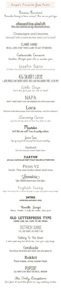 Cute, Free Fonts: