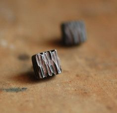 Bark post earrings in Natural by jibbyandjuna on Etsy, $25.00