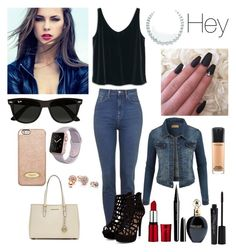 """""""Hey"""" by amyconnelly803 ❤ liked on Polyvore featuring MANGO, MICHAEL Michael Kors, Ray-Ban, GUESS, Marc Jacobs, Roberto Cavalli, Smashbox, LE3NO and MAC Cosmetics"""