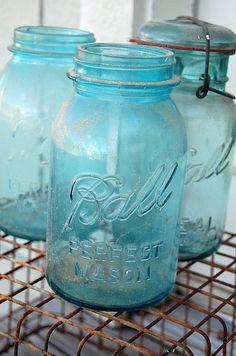 mason jars- I put candles in mine, makes a pretty glow