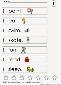 kindergarten sight word sentences and games for guided reading levels a and b kindergartenklub. Black Bedroom Furniture Sets. Home Design Ideas