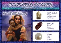 Goddess Power: Mother Mary! Wiccan Magic, Wiccan Spells, Crystals And Gemstones, Stones And Crystals, Magick Book, Spiritual Images, Angel Guidance, Mother Mary, Spirit Guides