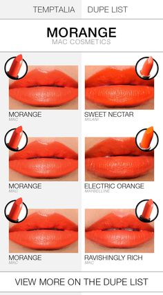 MAC Morange Dupes & Comparisons