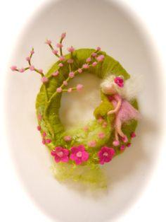 Spring WreathSpring Fairy Needle Felted WaldorfWool