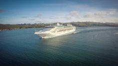 Sea Princess leaving Dunedin, Otago Peninsula, New Zealand New Zealand, Cruise, Leaves, Sea, Water, Life, Outdoor, Princess, Gripe Water