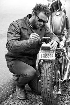 Bike, Beard, Shades & Red Wing Work Chukka's, Rock n Roll