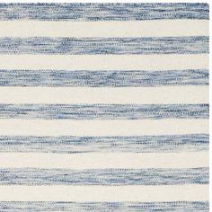 Safavieh Hand-Woven Dhurries Blue/ Ivory Wool Rug (8' x 10')