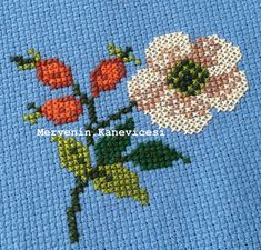 Cross Stitch Flowers, Tapestry, Embroidery, Crochet, Handmade, Cross Stitch Embroidery, Towels, Needlework, Crochet Hooks