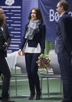 "Crown Princess Mary of Denmark attended the ""Childrens Aid Day"" tennis-events with Caroline Wozniacki in Frederiksberg, Denmark on November 24, 2015."