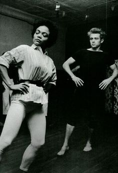 Eartha Kitt giving James Dean dance lessons - Imagine that!