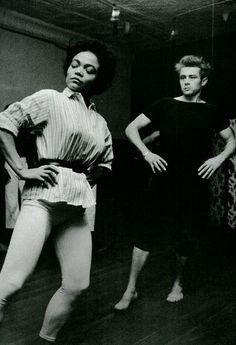 Eartha Kitt giving James Dean dance lessons - Imagine that!