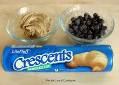 For the Love of Cooking » Chocolate and Peanut Butter Filled Crescent Rolls