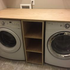 Harrison Happenings: Show and Tell Tuesday: Home Tours Tiny Laundry Rooms, Laundry Room Shelves, Laundry Room Layouts, Laundry Room Remodel, Laundry Closet, Small Laundry, Mud Rooms, Laundry Room Countertop, Laundy Room