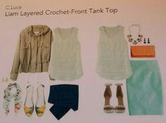 Crochet - front tank top
