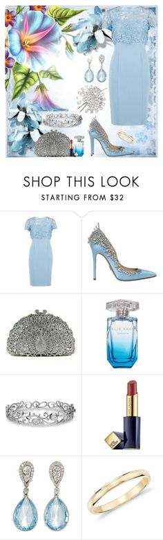 """""""#113"""" by agami87 ❤ liked on Polyvore featuring Gina Bacconi, Zuhair Murad, Elie Saab, Van Cleef & Arpels, Effy Jewelry, Estée Lauder, McTeigue & McClelland and Blue Nile"""