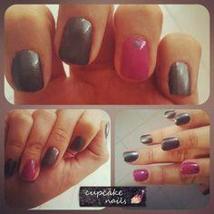 In Grey - cupcake nails