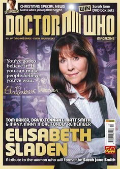 Doctor Who's Elisabeth Sladen (Sarah Jane Smith) Tributes From 4, 10 & 11 http:cfmmusicscene.com