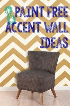 8 Paint-Free Accent Wall Ideas by proteamundi Diy Wall Art, Wall Decor, Room Decor, Striped Accent Walls, Creation Deco, Apartment Living, Living Room, Home Projects, Diy Home Decor