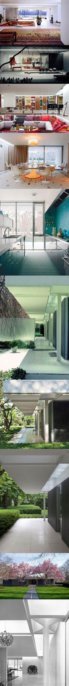 1953 Eero Saarinen - Miller House / Columbus Indiana USA / concrete / white / Finland