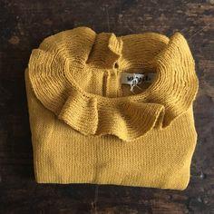 Hand Knitted Alpaca Pierrot Jumper - Yellow - 6m-4y – MamaOwl