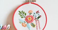 Embroidered Bouquet Tutorial (Down Grapevine Lane) | Bouquets, Free Pattern and Patterns