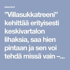"""""""Villasukkatreeni"""" kehittää erityisesti keskivartalon lihaksia, saa hien pintaan ja sen voi tehdä missä vain – Tässä 5 helppoa teholiikettä - Hyvinvointi - Helsingin Sanomat"""