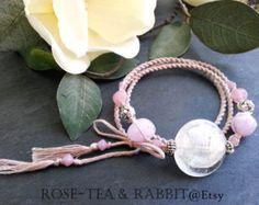 Wrap Bracelet or Necklace Spiral Woven by RoseTeaAndRabbit