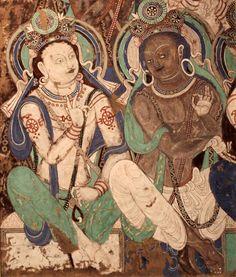 Doğu Türkistan Karahoca..Uygur Türklerine ait Budist Freskler. Kızıl mağarası.