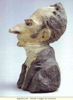 Jacques Lefévre Banker and Deputy - Honore Daumier Sculpture Head, Lion Sculpture, Michelangelo, Art Romantique, Honore Daumier, Emo Art, Inspiration Art, Art Database, Wood Engraving