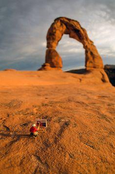 Miniature Figures in Southwest Landscape