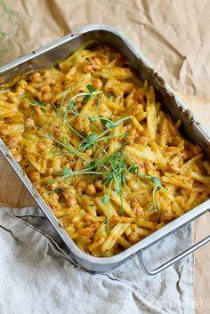 Kikhernekiusaus | Chocochili I Love Food, A Food, Food And Drink, Vegan Vegetarian, Vegetarian Recipes, Eat Lunch, Easy Cooking, Vegetable Recipes, Food Inspiration
