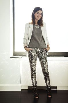 SHUTTHEFRONTDOOR i want these sequin pants! and top...and jacket...and EVERYTHING!!!