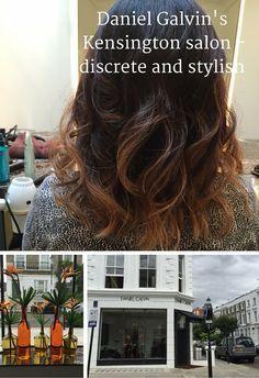 Daniel Galvin's new Kensington salon in London, discrete and stylish