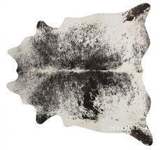 Salt and Pepper Black Brazilian Cowhide Rug Cow Hide Rugs: XXL