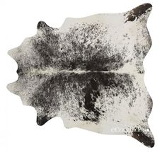 Salt and Pepper Black Brazilian Cowhide Rug Cow Hide Rugs: XXL