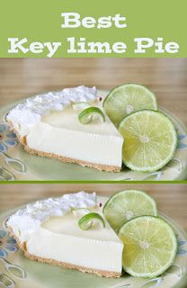 Best key lime pie recipe ever delicious easy old fashioned recipe that makes a wonderful dessert anytime or for any occasion recipes easy oldfashioned pie brownsugar sugar dessert Key Lime Desserts, Köstliche Desserts, Delicious Desserts, Dessert Recipes, Dinner Recipes, Easter Recipes, Light Desserts, Cheesecake Desserts, Yummy Treats