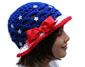 Crochet Hat Patterns Patriotic and Watermelon Sun Hat Crochet Pattern Pack Baby thru Tween Size Instant Download No. 53