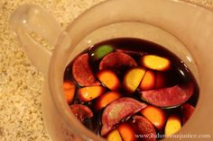 Winter Sangria Ingredients Citrus, cinnamon, and cloves. Wine Winter Sangria Based on Cooking Light's Winter Sangria reci. Fun Drinks, Yummy Drinks, Beverages, Winter Sangria, Sangria Ingredients, Alcohol Recipes, Cooking Light, One Pot Meals, Main Dishes
