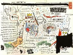 "immafuster:  ""work by Jean-Michel Basquiat (1960 - ) NY  """
