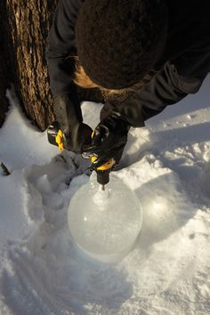 You might have seen these ice globes, lanterns, and sculptures at the City of Lakes Loppet or along the boulevard in the Linden Hills business district.