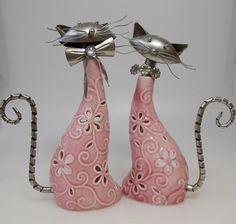 Deko-Objekte - Windlicht Katze Porzellan verschiedene Motive ... - ein Designerstück von sticken-stricken-haekeln bei DaWanda